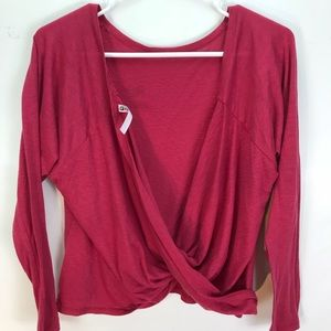 Fabletics Switch Back Tee Long Sleeve Draped Back